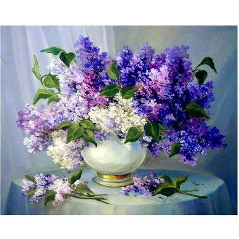 Painting Of Flower Vase by Aliexpress Buy Diy Painting Needlework
