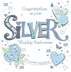 handmade silver 25th wedding anniversary greeting card cards kates
