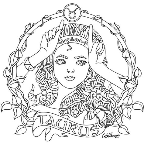 printable zodiac coloring pages 293 best horoskop images on pinterest coloring books