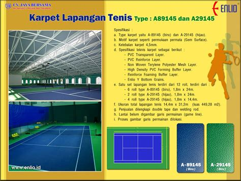 Karpet Volly karpet lapangan tenis indoor distributor alat olahraga