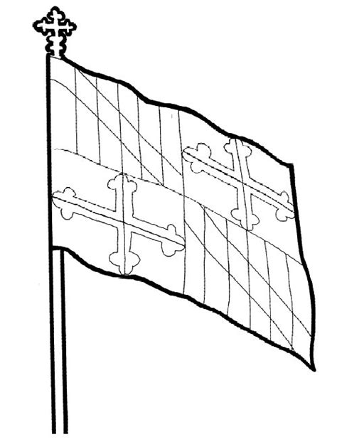 Maryland Flag Coloring Page maryland flag coloring pages