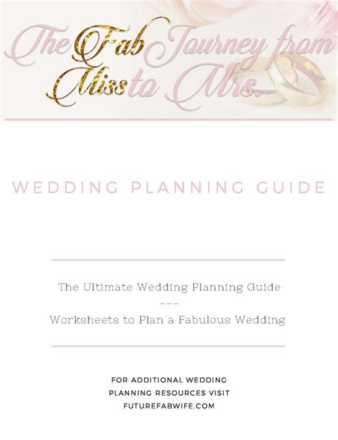 wedding planning guide fab wives