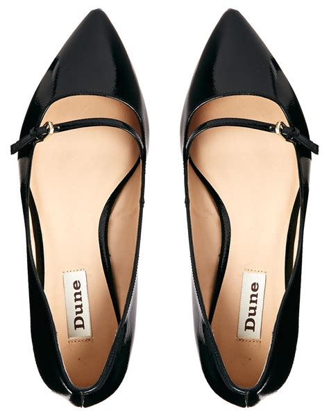 flat pointed shoes lyst dune mahilda pointed flat shoe in black