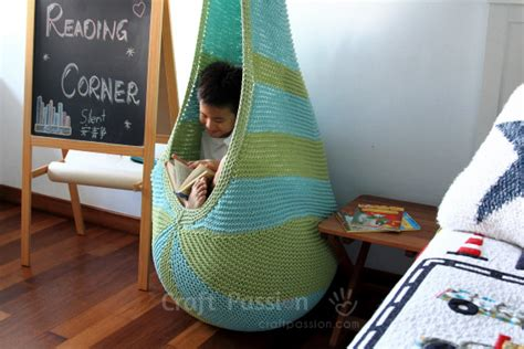 Homemade Fireplace by Cocoon Hanging Seat Free Knitting Pattern Craft Passion