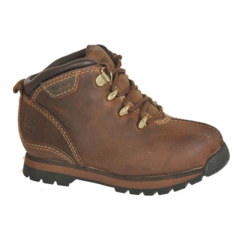 leather timberland boots timberland splitrock brown leather junior boys boots