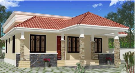 low budget kerala villa home design floor plans building 1100 square feet 3 bhk low budget small elevation kerala