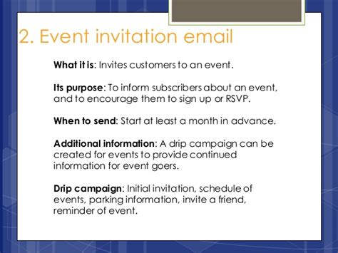 sle email invitation to an event 5 marketing emails your business should be sending