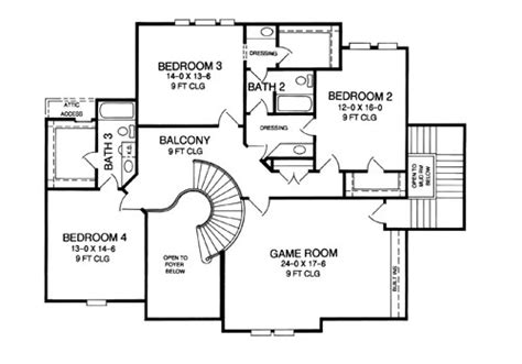Twilight House Floor Plan by Angouleme 8383 4 Bedrooms And 3 Baths The House Designers