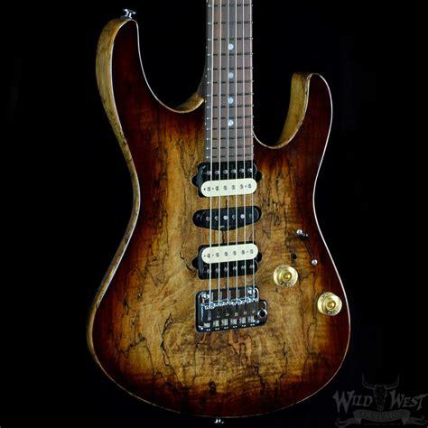 uhr modern suhr modern spalted maple brown burst west guitars