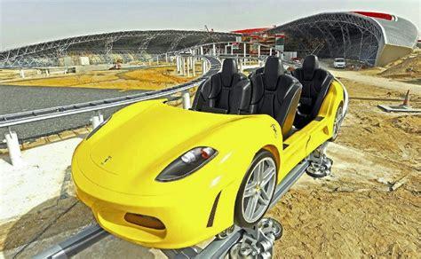 Ferrari Ride Abu Dhabi by A Ferrari World Theme Park Is Coming To North America And