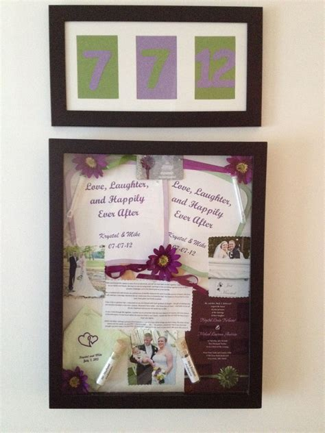 Shadow box full of Wedding Day Memories. Made by, my