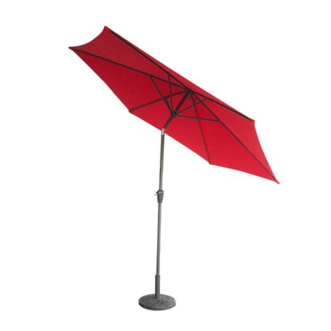 Sun Umbrella Patio 9ft Aluminum Patio Umbrella Market Sun Shade Steel Tilt W Crank Outdoor New Ebay