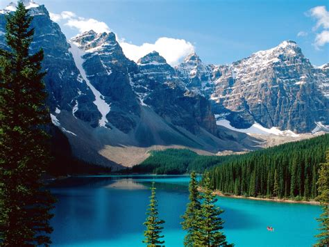 Moraine Lake Banff National Park Canada postcard, Moraine