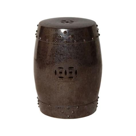cheap outdoor drum stool gunmetal drum prosperity garden stool seven colonial