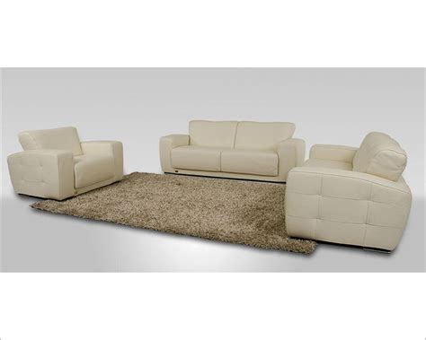Modern White Leather Sofa Set Modern White Italian Leather Sofa Set Made In Italy 44l6047