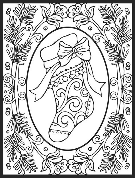 coloring pages hard christmas a crowe s gathering christmas stocking free coloring page