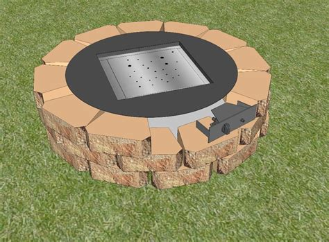 easy diy pit kit with grill decorate gas pit kit ideas outdoor decorations