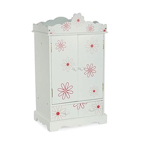 18 doll armoire large 18 inch doll armoire storage furniture fits 18