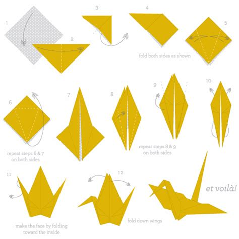 Traditional Origami Crane - easy origami crane for