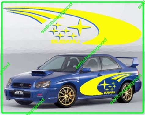 subaru rally decal subaru swrt rally side decal sticker for wrx impreza sti