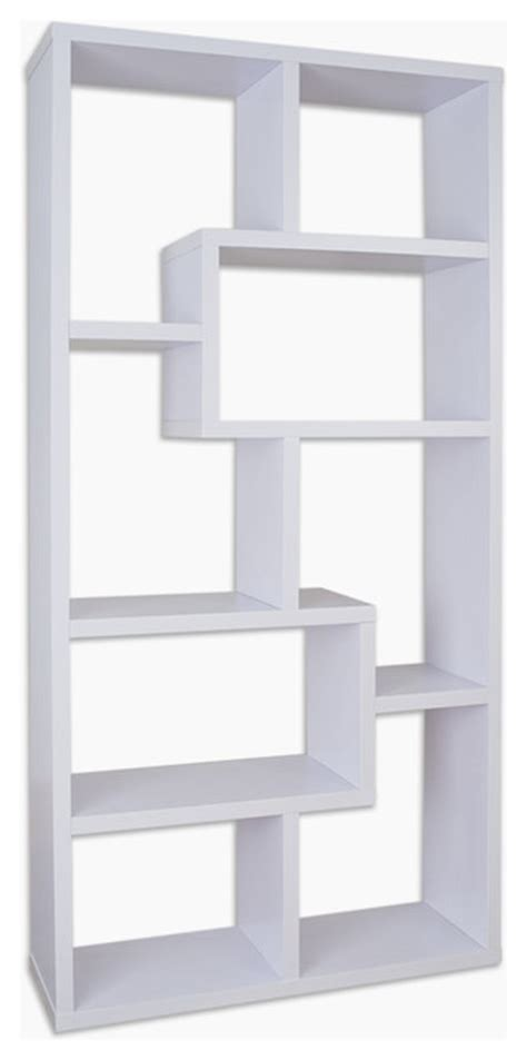 white modern bookshelves shop houzz furniture of america e commerce by enitial
