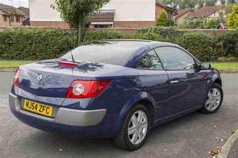 renault megane 2004 blue renault 2004 megane convertible dynamique 1 6 vvt 115 blue