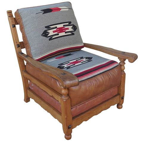 western sofas and chairs western cabin style chair with leather and chimayo