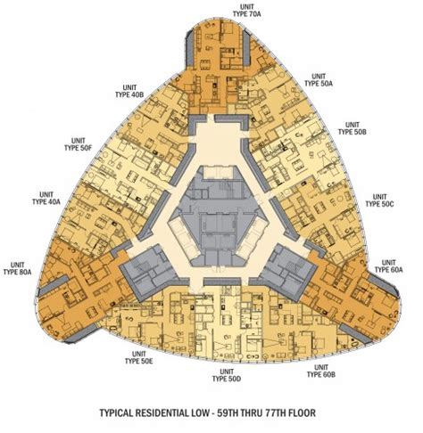 burj al arab floor plans busan lotte town tower som archdaily
