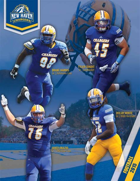 unh chargers football 2015 new football media guide by new chargers