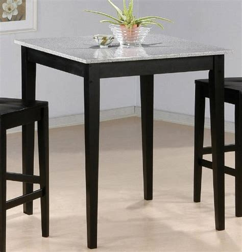 bar table with granite top black finish rolimegy