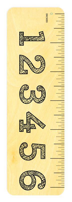 printable ruler bookmark big numbers ruler bookmarks rulers gifts 171 night owl