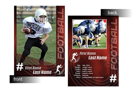 football card template 15 psd football trading card images baseball trading