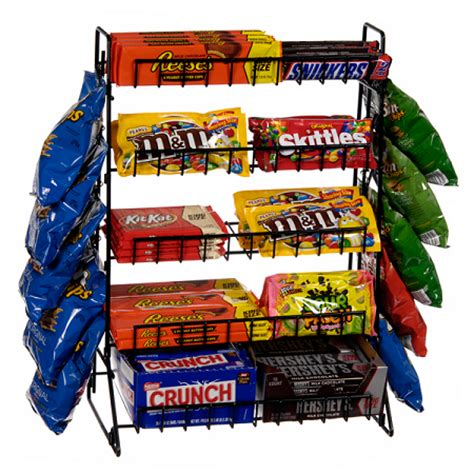 Chip Rack Display by 5 Tier Display With Clip Counter Rack Tiered Display