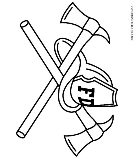 Firefighter Helmet Coloring Page Coloring Pages Fireman Hat Coloring Page