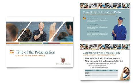 College University Powerpoint Presentation Template Design College Powerpoint Templates