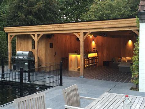 tuinhuis met buitenkeuken houten buitenkeukens buitenkeuken buitenkeuken