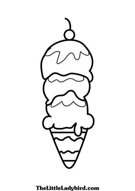 ice cream soda coloring page gallery of ice cream in cone coloring page with pages