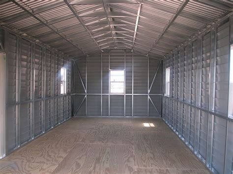 Prefab Metal Sheds by Us Prefabricated Gable Steel Shed Car Storage Sheds