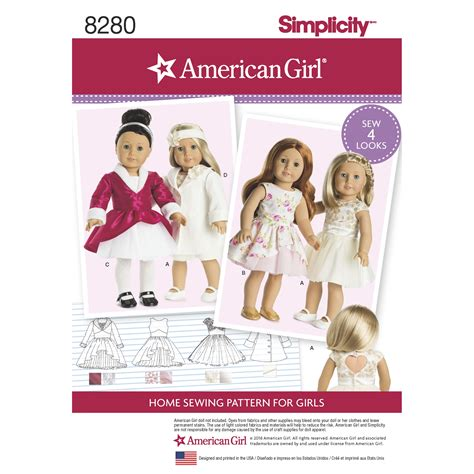 pattern review weekend 2016 american girl doll clothes patterns simplicity aztec