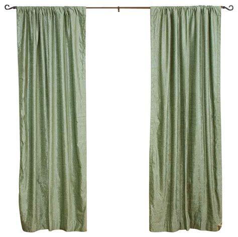 olive green curtain panels olive green rod pocket velvet curtain drape panel