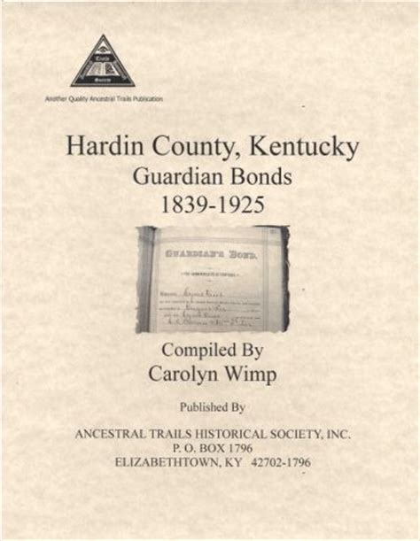 a history of elizabethtown kentucky and its surroundings books hardin county kentucky guardian bonds 1839 1925