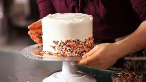 how to decorate a cake at home how to decorate a cake with sprinkles cake decorating