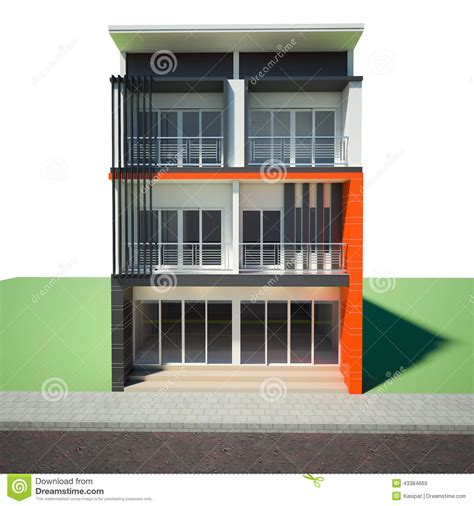 Building 3rd Floor Stock Illustration Image Of Architect 43384669