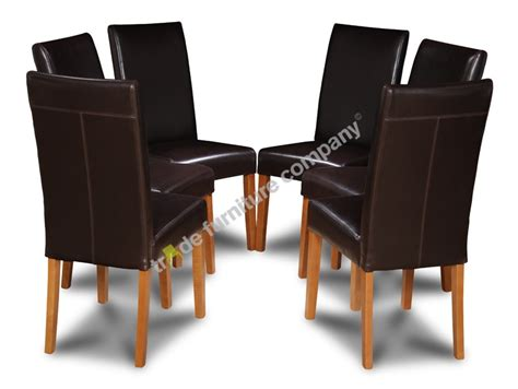 Brown Leather Dining Chairs Uk Set Of 6 Dining Room Chairs In Brown