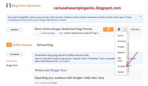 Membuat Menu Dropdown Blogger | bisnis online dengan modal kecil bagi pemula cara membuat