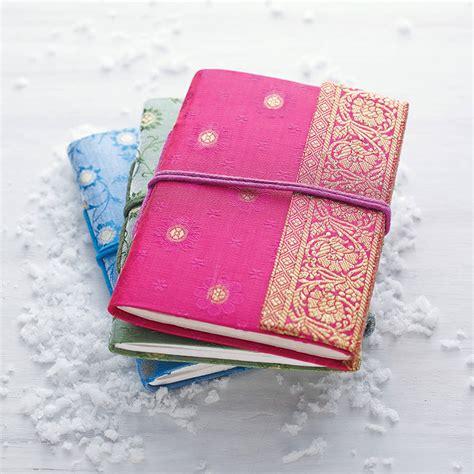 Handmade Notebooks - handmade sari notebook by paper high notonthehighstreet