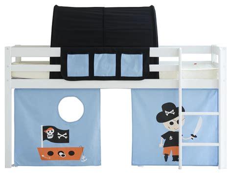 piraten vorhang flexa basic spielbett wei 223 mit gerader leiter vorhang