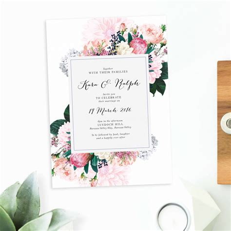 wedding invitation printers adelaide floral wedding invitations sail and swan