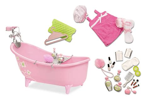 american girl bathtub slipper tub with beauty product set our generation dolls