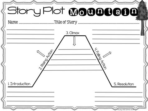 story structure worksheets 15 best story mountain images on teaching ideas fiction and fiction writing